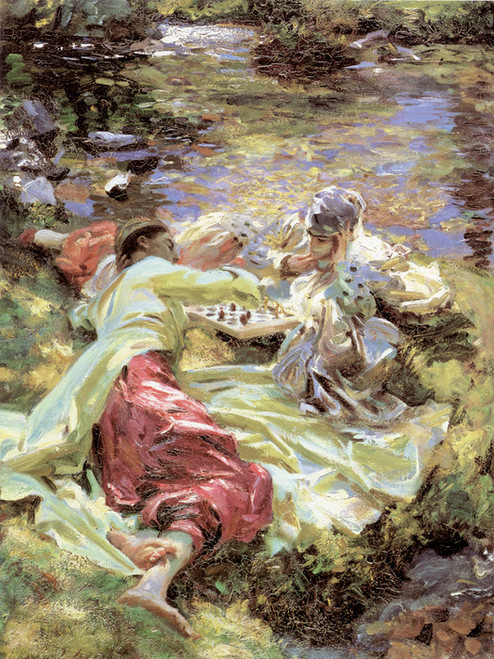 Art Prints of The Chess Game by John Singer Sargent
