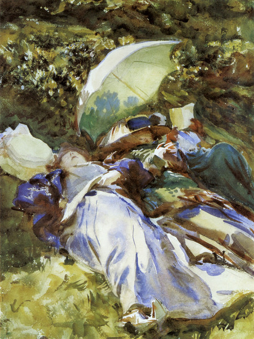 Art Prints of The Green Parasol by John Singer Sargent