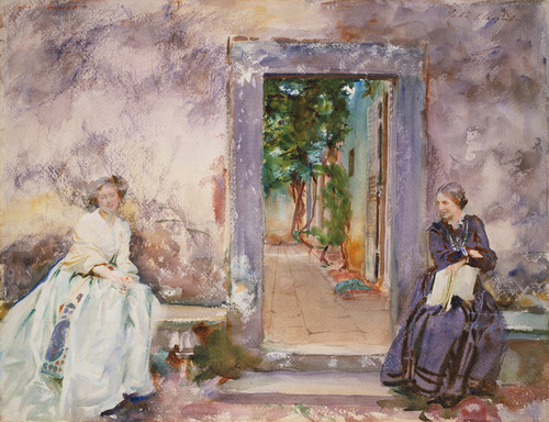 Art Prints of The Garden Wall by John Singer Sargent