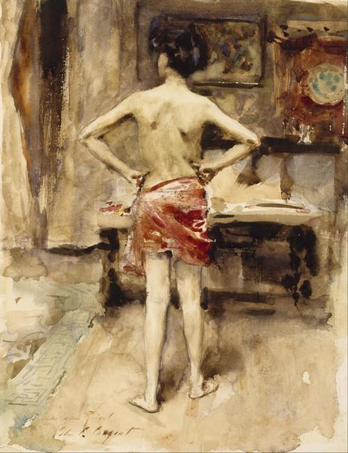 Art Prints of The Model by John Singer Sargent