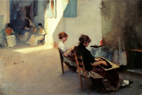 Art Prints of The Venetian Bead Stringers by John Singer Sargent