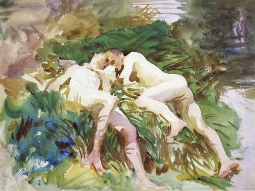 Art Prints of Tommies Bathing by John Singer Sargent