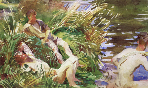 Art Prints of Tommies Bathing, France by John Singer Sargent