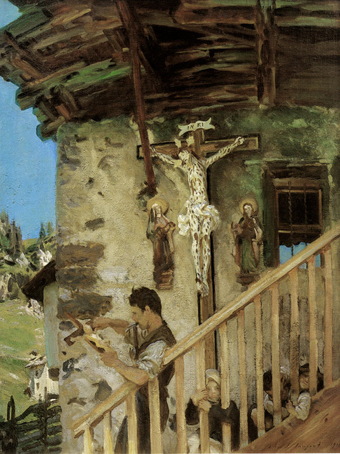 Art Prints of Tyrolese Crucifix by John Singer Sargent