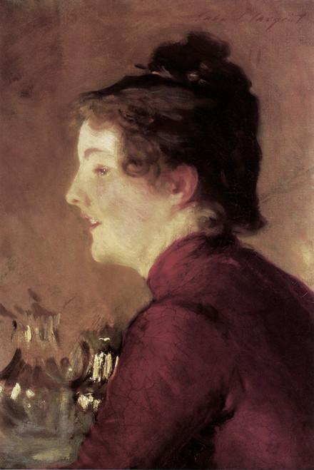 Art Prints of Violet in a Red Dress by John Singer Sargent