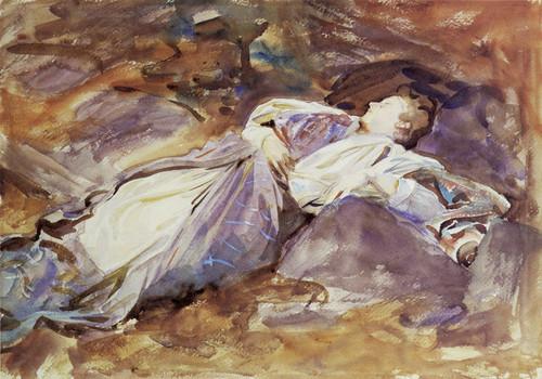 Art Prints of Violet Sleeping by John Singer Sargent