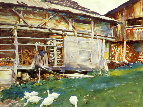 Art Prints of Woodsheds, Tyrol by John Singer Sargent