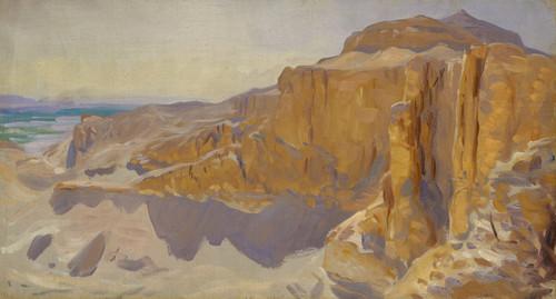 Art Prints of Cliffs at Deir el Bahri, Egypt by John Singer Sargent