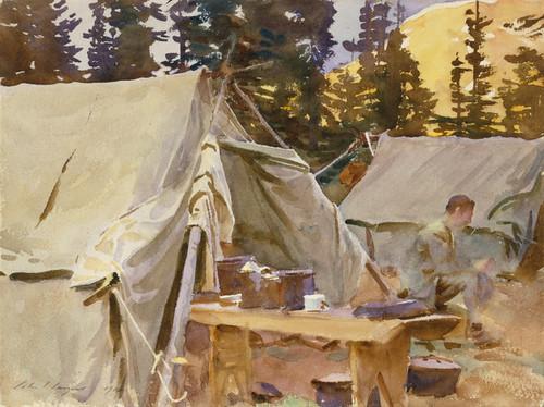 Art Prints of Camp at Lake O'Hara by John Singer Sargent