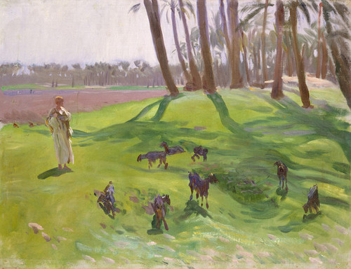 Art Prints of Landscape with Goatherd by John Singer Sargent