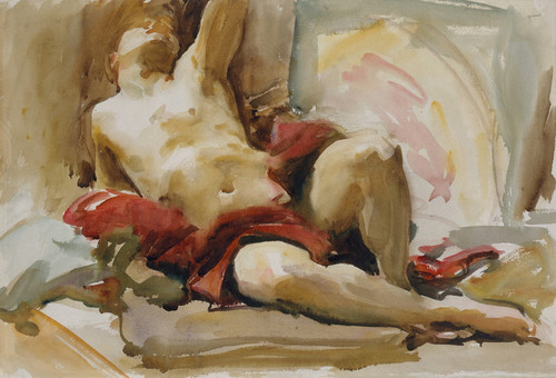 Art Prints of Man with red Drapery by John Singer Sargent