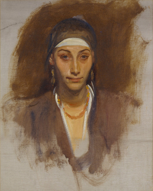 Art Prints of Egyptian Woman with Earrings by John Singer Sargent