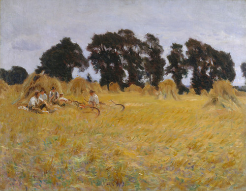 Art Prints of Reapers Resting in a Wheat Field by John Singer Sargent