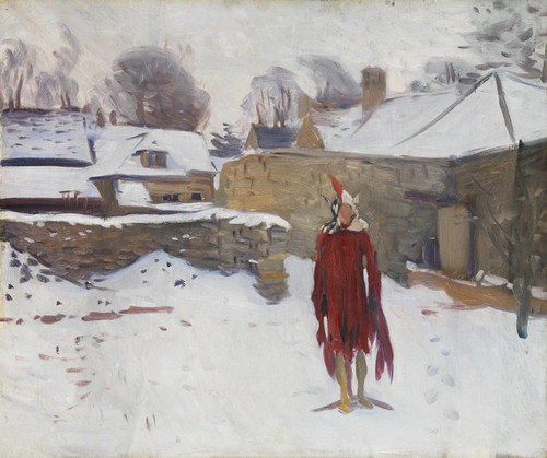 Art Prints of Mannikin in the Snow by John Singer Sargent