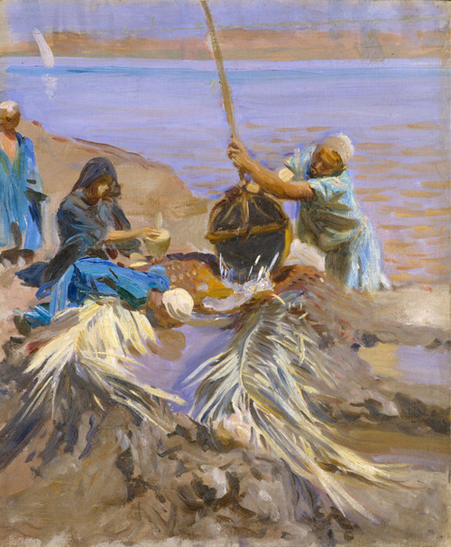 Art Prints of Egyptians Raising Water from the Nile by John Singer Sargent