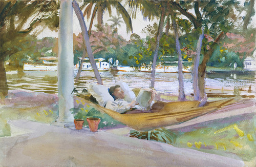 Art Prints of Figure in a Hammock, Florida by John Singer Sargent