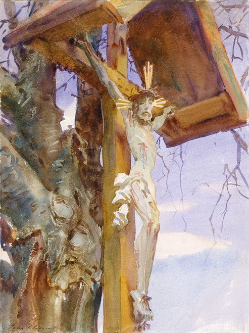 Art Prints of Tyrolese Crucifix II by John Singer Sargent