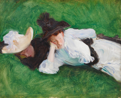 Art Prints of Two Girls on a Lawn by John Singer Sargent
