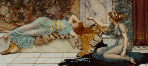 Art Prints of Mischief and Repose by John William Godward