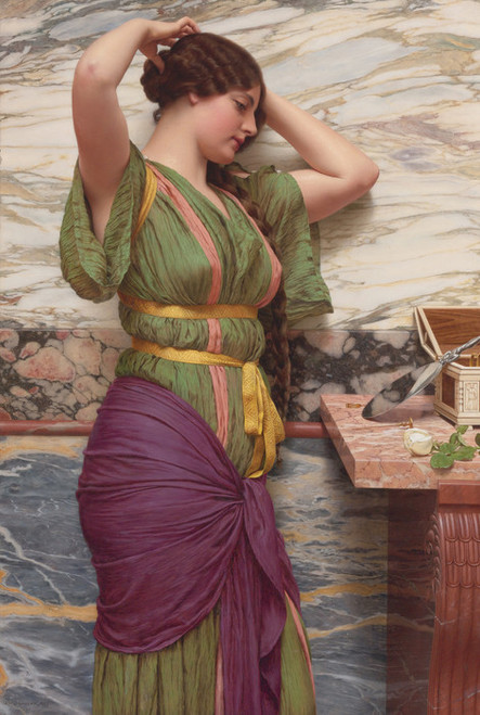 Art Prints of A Fair Reflection by John William Godward
