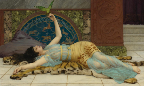 Art Prints of Relaxation by John William Godward