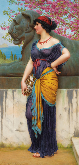 Art Prints of In the Grove of the Temple by John William Godward