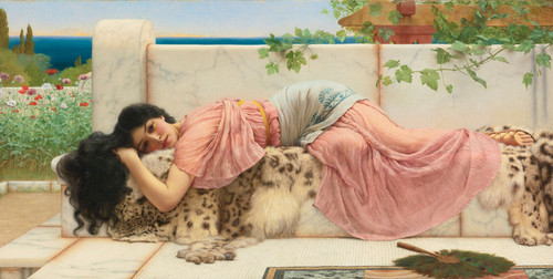 Art Prints of When the Heart was Young by John William Godward
