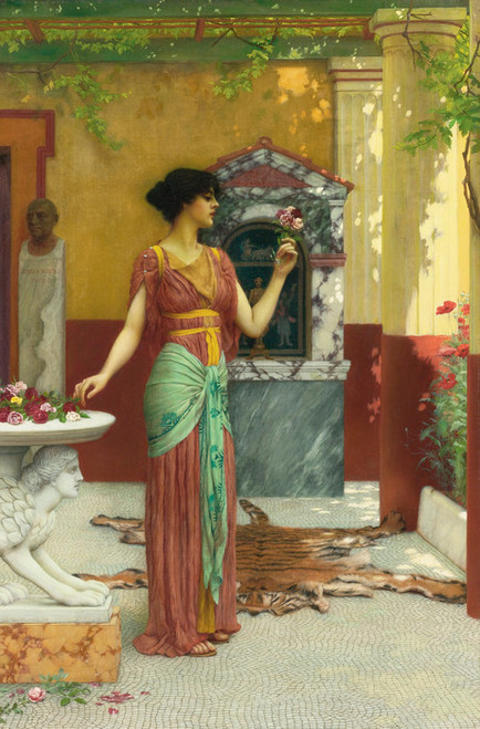 Art Prints of The Bouquet by John William Godward