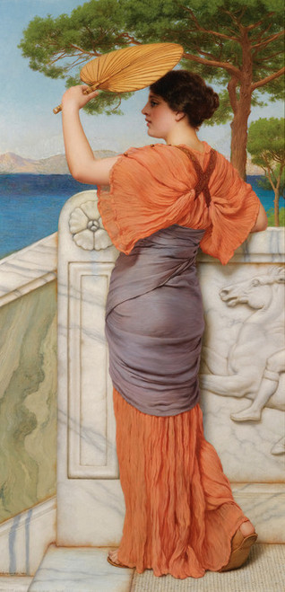 Art Prints of On the Balcony by John William Godward