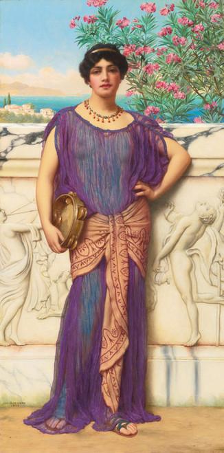 Art Prints of The Tambourine Girl by John William Godward