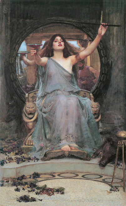 Art Prints of Circe Offering the Cup to Odysseus by John William Waterhouse