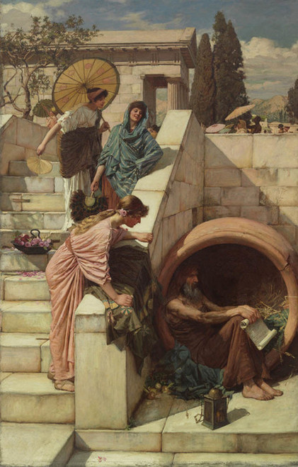 Art Prints of Diogenes II by John William Waterhouse