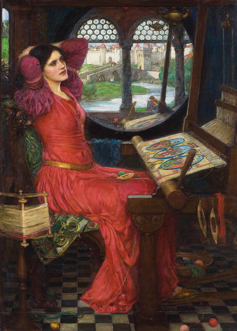 Art Prints of I Am Half Sick of Shadows, Lady Shalott by John William Waterhouse