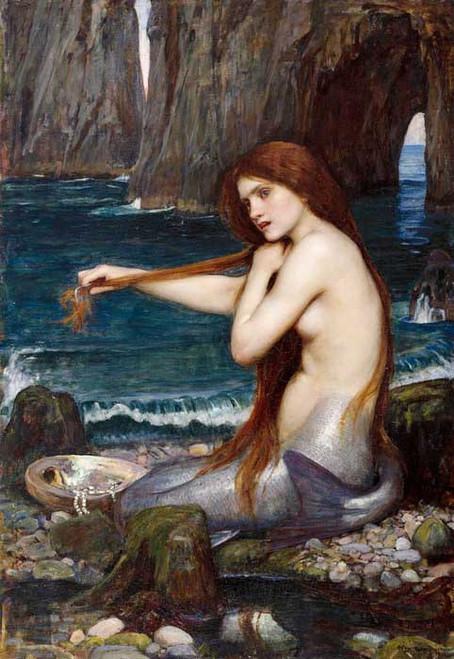 Art Prints of Mermaid by John William Waterhouse