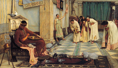 Art Prints of The Favorites of the Emperor Honorius by John William Waterhouse