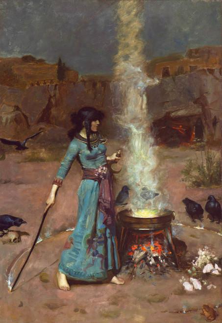Art Prints of The Magic Circle by John William Waterhouse