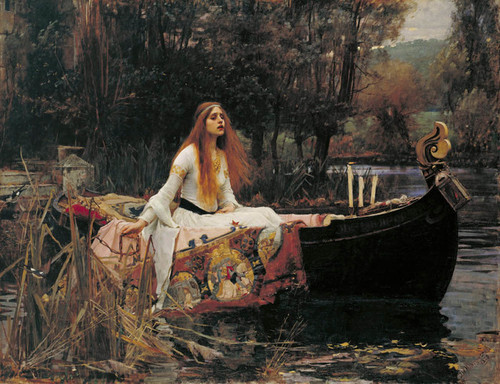 Art Prints of The Lady of Shalott by John William Waterhouse