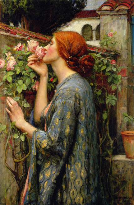 Art Prints of The Soul of the Rose by John William Waterhouse