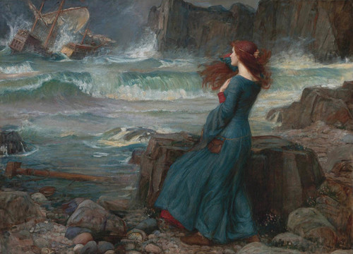 Art Prints of Miranda the Tempest by John William Waterhouse