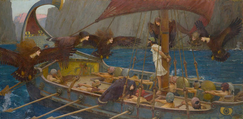 Art Prints of Ulysses and the Sirens by John William Waterhouse