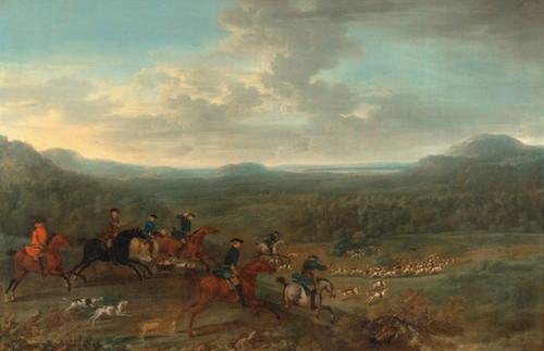 Art Prints of A Foxhunt by John Wootton