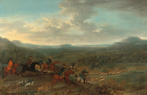 Art Prints of A Foxhunt by John Wootton