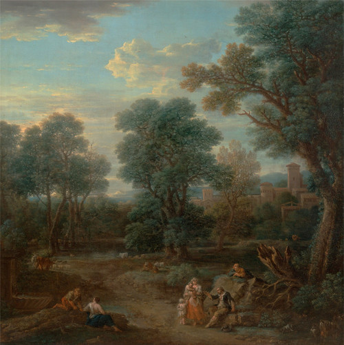 Art Prints of Classical Landscape, Morning by John Wootton