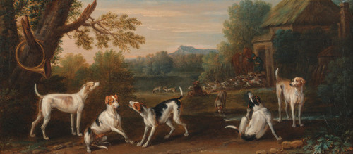 Art Prints of Releasing the Hounds by John Wootton
