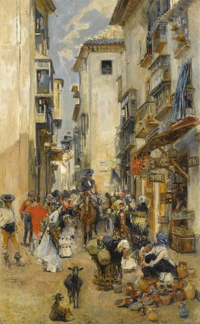 Art Prints of Street Scene by Jose Garcia Ramos