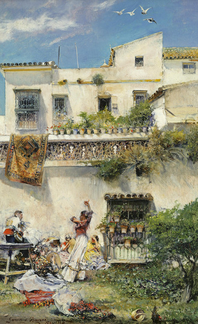 Art Prints of A Picnic Party in Seville by Jose Garcia Ramos