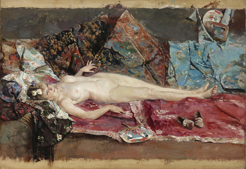 Art Prints of Reclining Nude by Jose Garcia Ramos