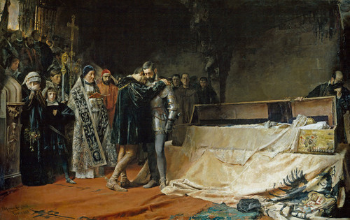 Art Prints of The Conversion of the Duke of Gandia by Jose Moreno Carbonero