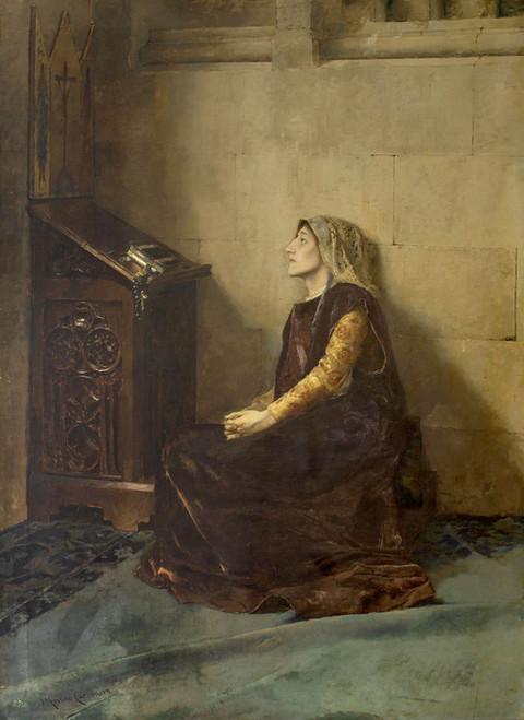 Art Prints of Queen Blanche II of Navarre by Jose Moreno Carbonero