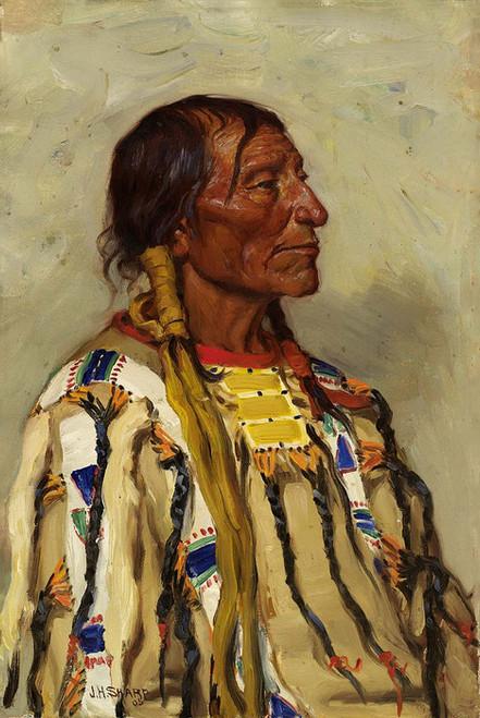 Art Prints of Chief Flat Iron II by Joseph Henry Sharp
